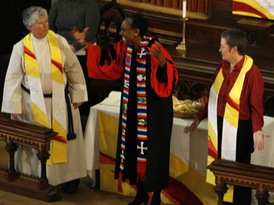 Rev. Annie Britton and Rev. Jenna Zirbel
